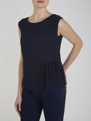 Dark Navy Lottie Shell Top