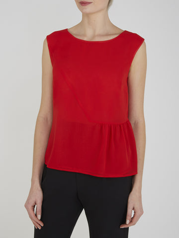 Red Lottie Shell Top