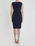 Navy Erin Tie Dress - Havren