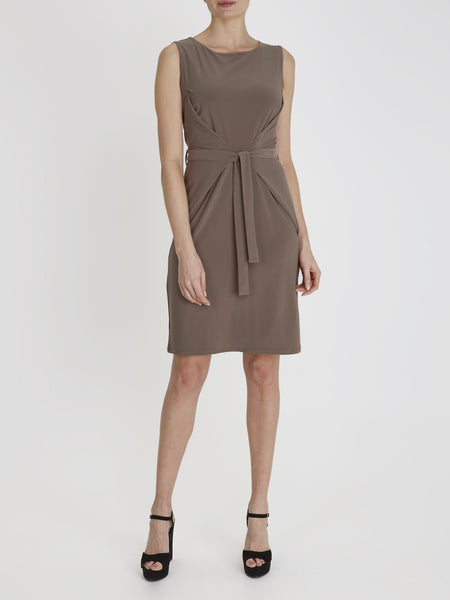 Taupe Erin Tie Dress - Havren