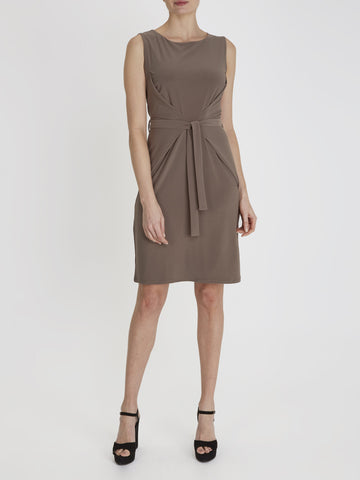 Taupe Erin Tie Dress