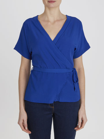 Cobalt Martha Wrap Top