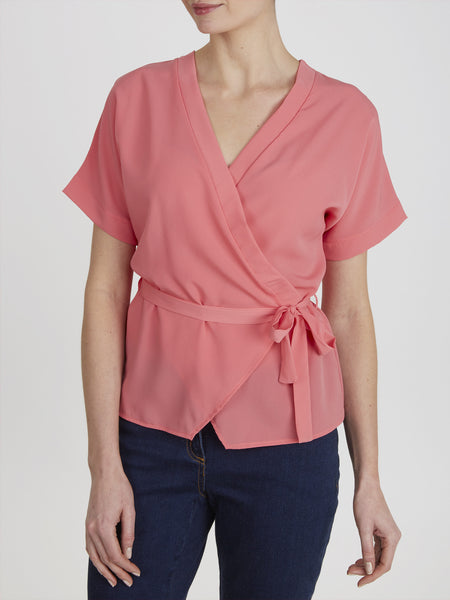 Coral Martha Wrap Top - Havren