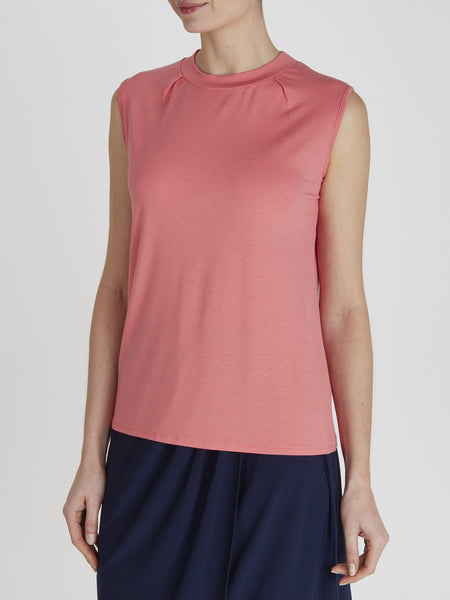 Coral Thea High Neck Top - Havren