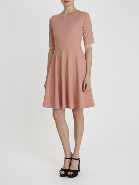 Pink Esme Fit and Flare Dress - Havren