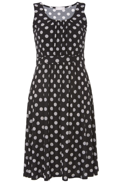 Black Orla Spot Dress - Havren