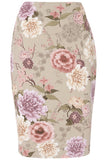 Floral Pencil Skirt - Havren