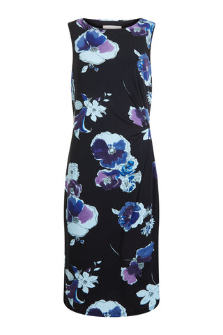 Blue Combo Maxine Ruched Dress