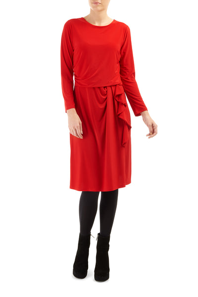 Red Bryony Frill Dress