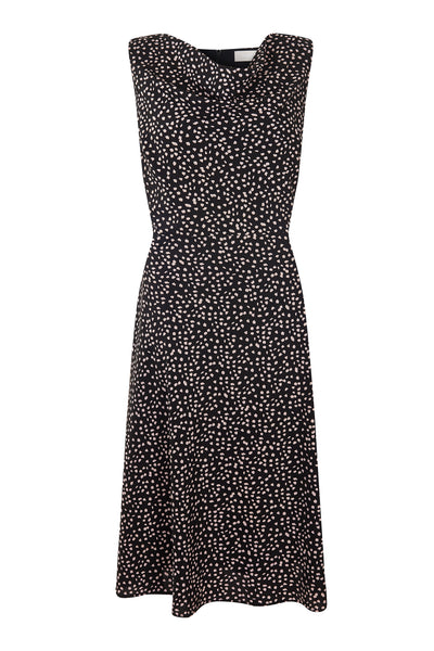 Aleisha Printed Cowl Neck Dress - Havren