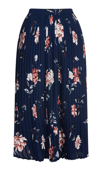 Naomi Pleated Print Skirt - Havren