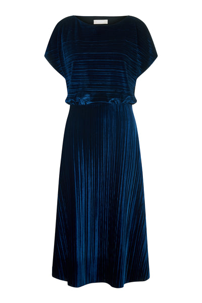 Azure Annette Crushed Velvet Dress