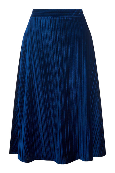 Annette Azure Crushed Velvet Skirt