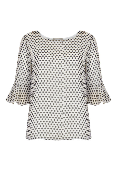 Frida Vintage Polka Dot Top - Havren