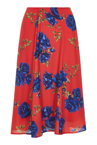 Red Camilla Rose Print Skirt