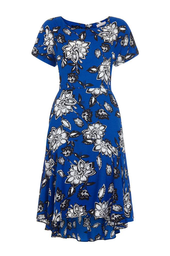 Cobalt Clarke Rose Frill Step Dress