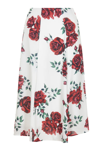 Cream Camilla Rose Print Skirt