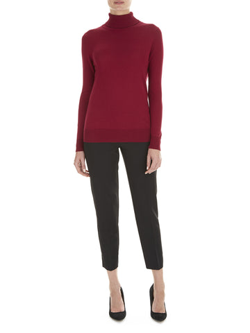 Deep Wine Penny Roll Neck Jumper