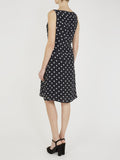 knee length polka dot dress