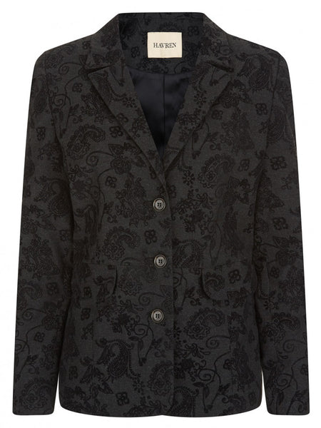 Flocked Blazer - Havren