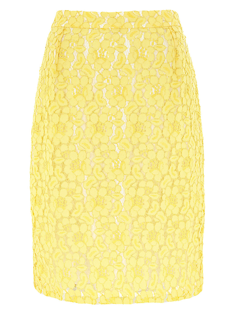 Lemon Lace Pencil Skirt - Havren
