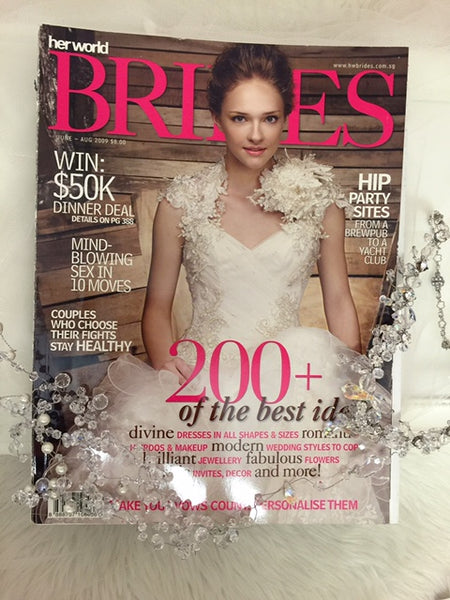 Herworld Brides (Issue: Aug09) : Featuring Gioielli Hair Accessories Cover Page