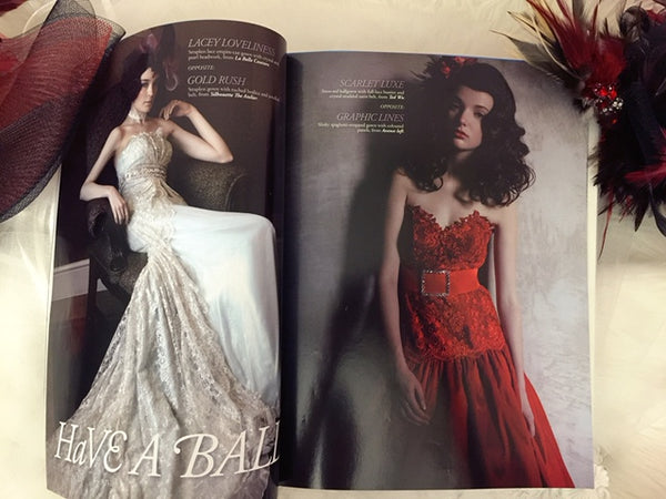 Style: Weddings Sep09-Feb10 featuring Gioielli bespoke Fascinators for Brides