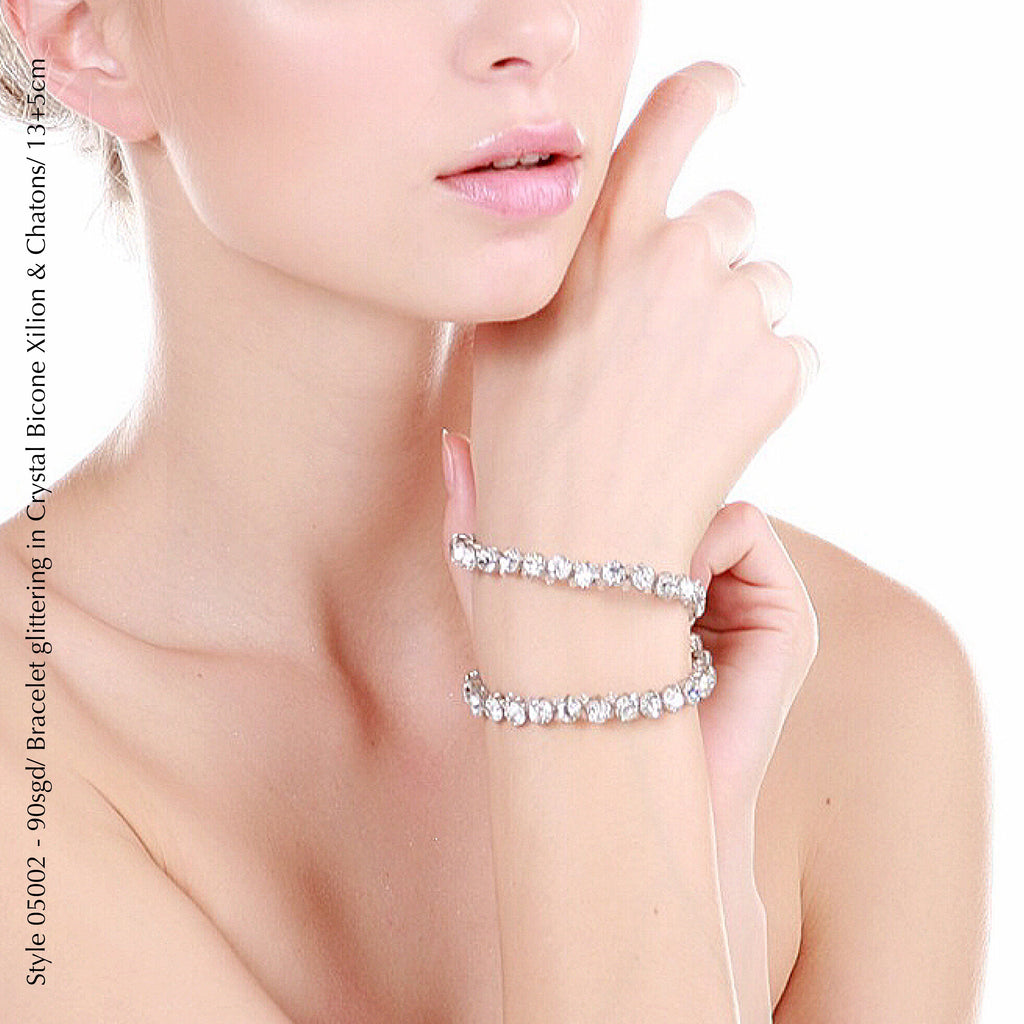 Style 05002 Bracelet with Crystal Xilion Bicone Beads and Crystal Rhinestones from Swarovski®