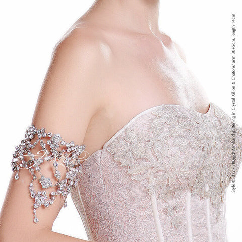 Style 05012 Bridal Accessory Armband with Crystals from Swarovski®