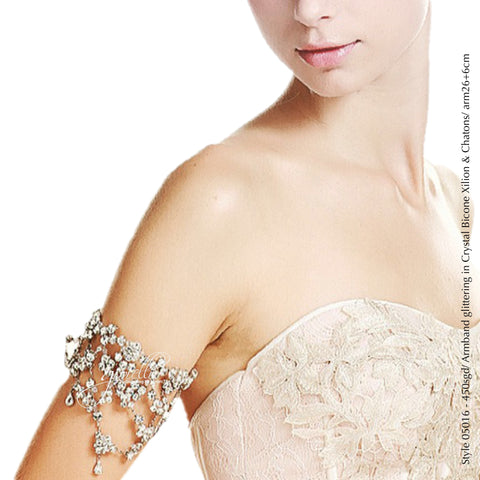 Style 05016 Bridal Accessory Crystal Armband with crystals from Swarovski®