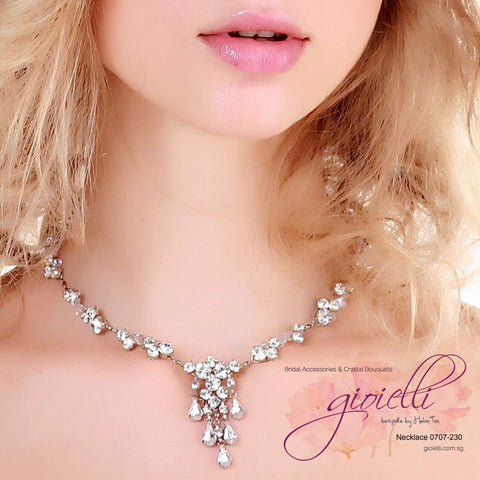 Style #0707 Bridal Crystal Necklace