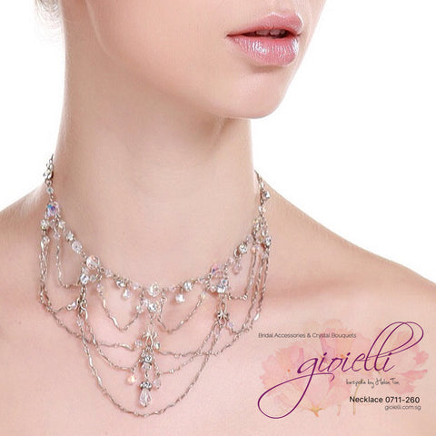 Style #0711 Bridal Crystal Necklace