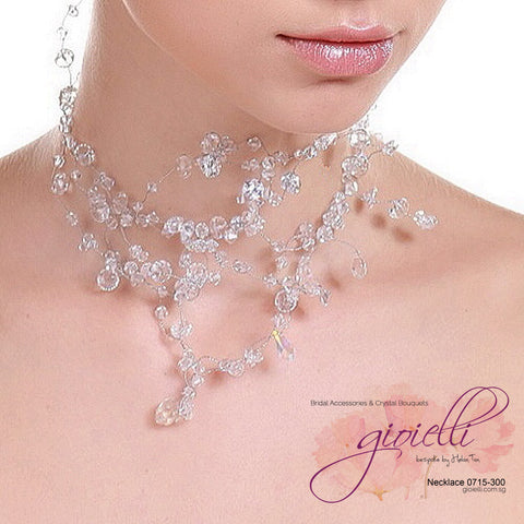 Style #0715 Bridal Crystal Necklace
