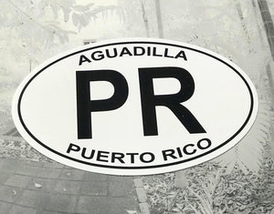 PR Aguadilla oval sticker