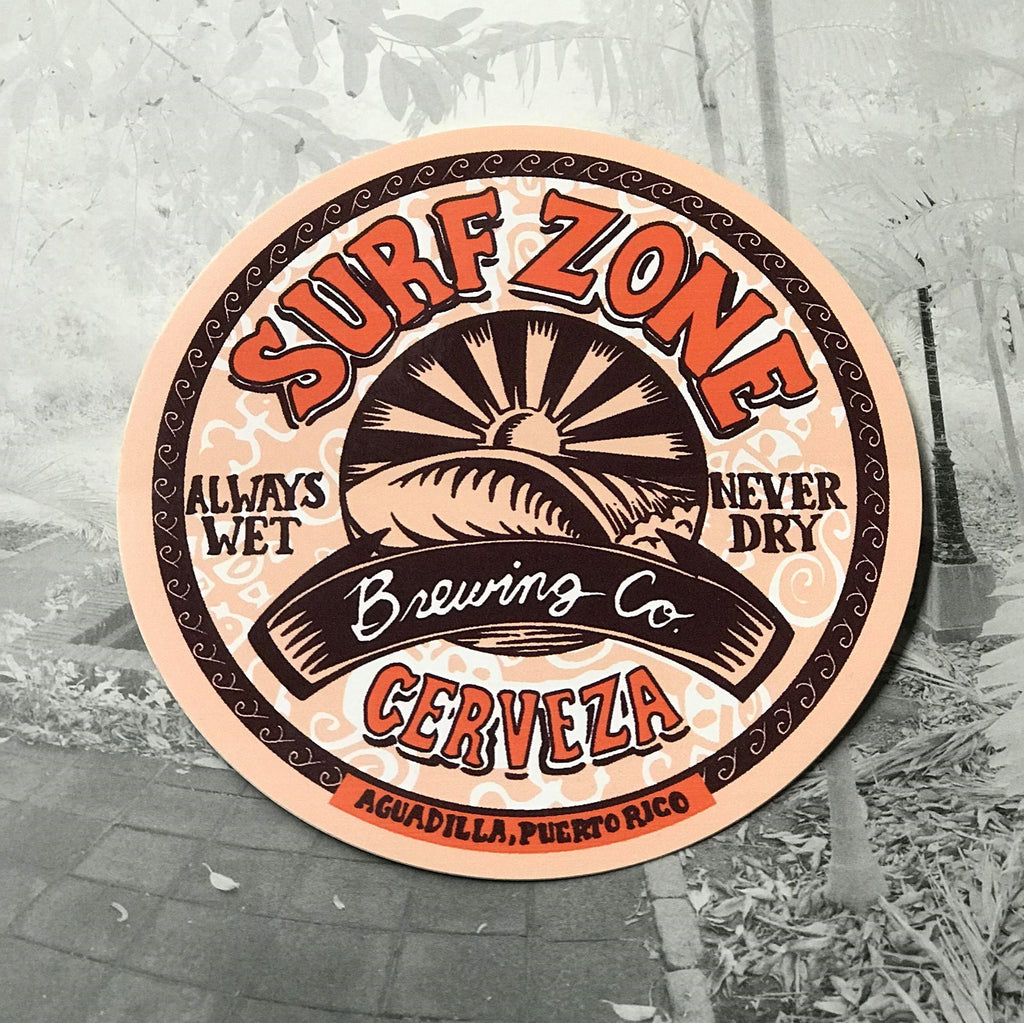 Brewing company sticker