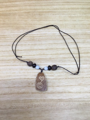 Carlos Creations: Hand Carved Coconut wood Neckless