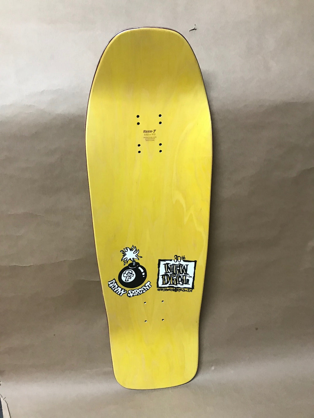 New Deal Sargent Monkey Bomber  Yellow 9.625 Deck