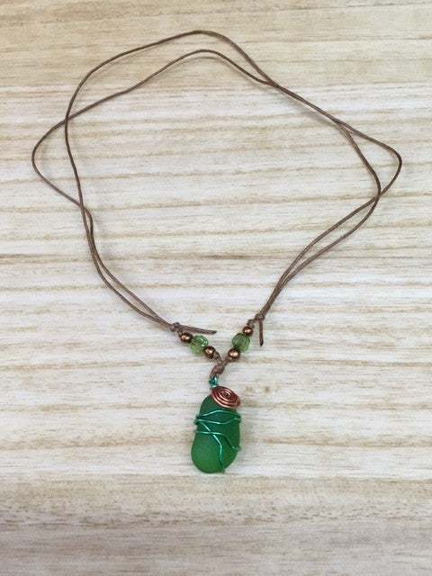 Carlos Creation: Sea Glass Neckless