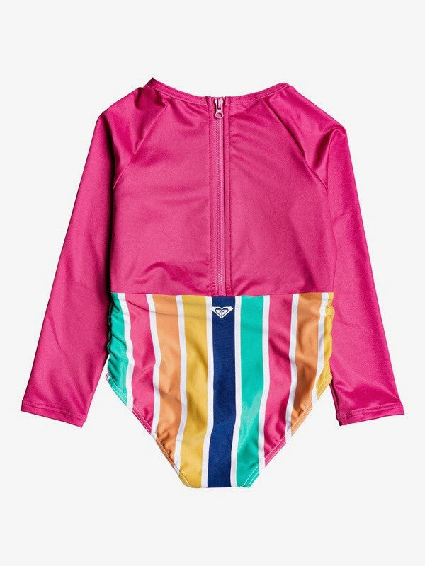 Roxy Girls 2-7 Maui Shade Long Sleeve Zipped UPF 50 One-Piece Rashguard