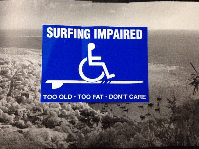 Surfing impaired sticker