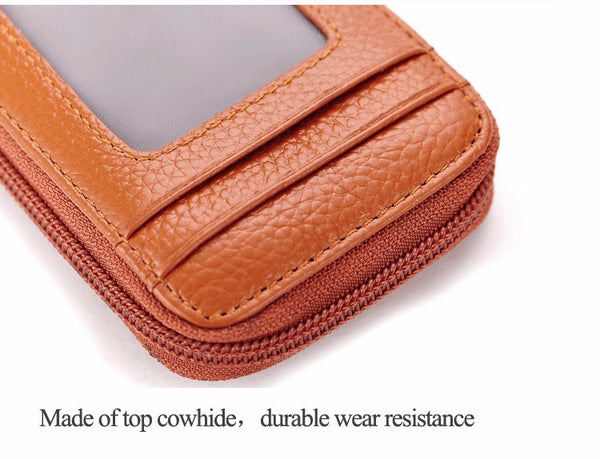 Genuine Leather Mini ID Credit Card Holder Accordian Style, , Card & ID Holders, Welfm Shop, Welfm Shop  - 12