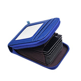 Genuine Leather Mini ID Credit Card Holder Accordian Style, Blue, Card & ID Holders, Welfm Shop, Welfm Shop  - 3