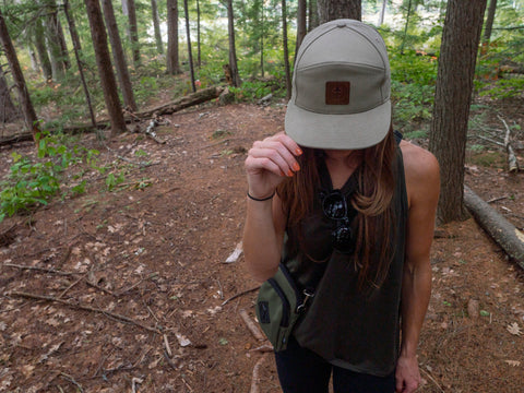 The treefort lifestyles forager bag and canopy cap out in it's natural environment, hiking around the forest of New Hampshire