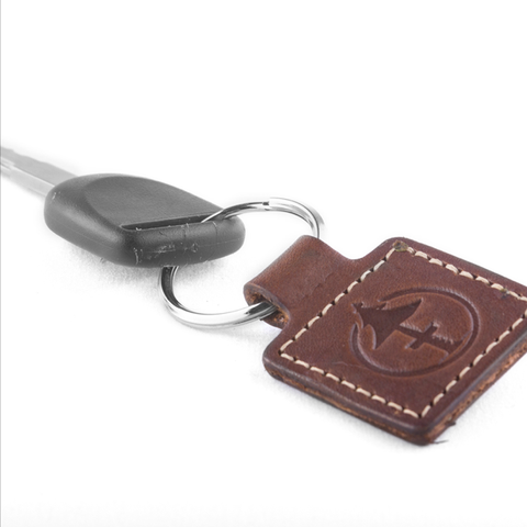 Treefort leather keychain