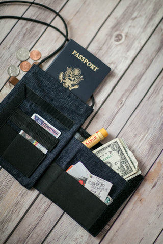 Denim Deluxe trap door wallet