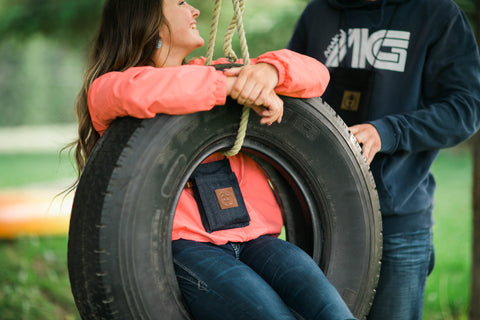 tire swing with the travelers trunk