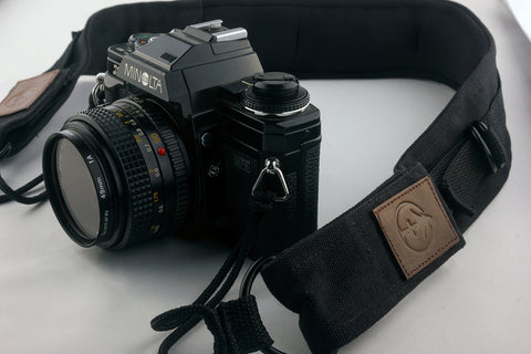 Black Deluxe Lookout Camera Strap