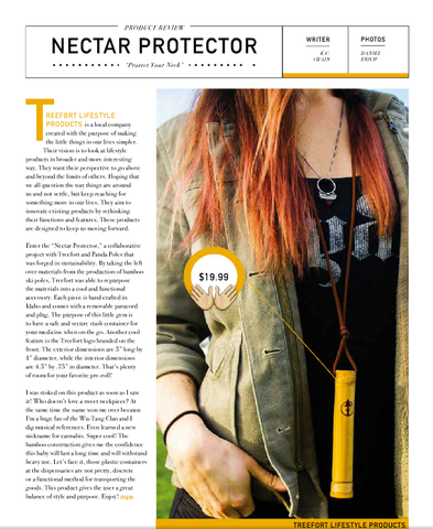 nectar protector write up in dope magazine