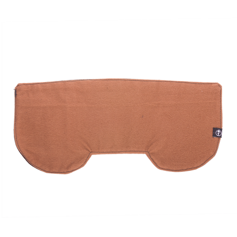 Inside of the Storm Flap, a canvas flannel lined removable earflap insert for any cap.