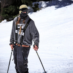 Bret Skiing with the General Suspenders | Treefort Lifestyles
